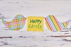 Carte de Pâques heureuse, coupes-circuit d'oiseau Image libre de droits