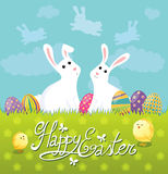 Carte de Pâques mignonne Images libres de droits