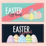 Carte de Pâques plate de vecteur de conception Fond Photos libres de droits
