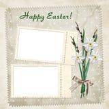 Carte de Pâques pour les vacances Images libres de droits