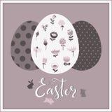 Carte de Pâques de salutation Images stock