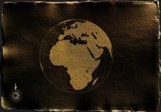 Carte de papier antique Photo libre de droits
