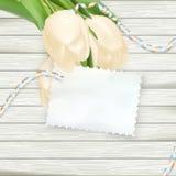 Carte de papier avec des tulipes ENV 10 Photo libre de droits