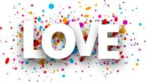 Carte de papier d'amour illustration libre de droits