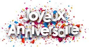 Carte de papier de joyeux anniversaire Photos stock