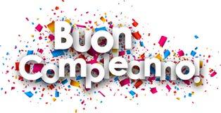 Carte de papier de joyeux anniversaire Photo libre de droits