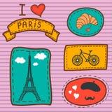 Carte de Paris Photographie stock libre de droits