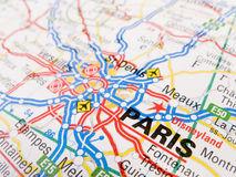Carte de Paris Image stock