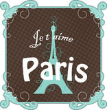 Carte de Paris de cru Image stock