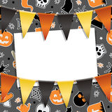 Carte de partie de Halloween Photo stock