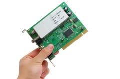 Carte de PCI de TV sur le fond blanc Photographie stock