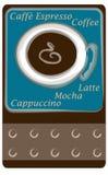Carte de perforateur de café Photos libres de droits