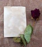 Carte de photo d'amour Photographie stock libre de droits