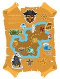 Carte de pirate Photographie stock libre de droits