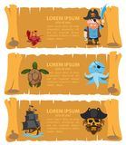 Carte de pirate Photos libres de droits