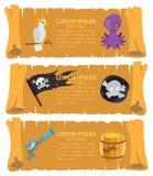 Carte de pirate Photo stock