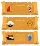 Carte de pirate Photo libre de droits