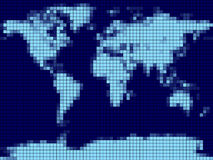 Carte de Pixel Photographie stock libre de droits