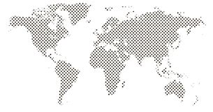 Carte de pixel de monde Bannière horizontale tramée pointillée de carte du monde illustration de vecteur
