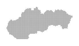 Carte de pixel de la Slovaquie Dirigez la carte pointillée de la Slovaquie a isolé sur le fond blanc Infographie abstraite de car Photographie stock libre de droits