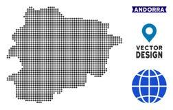 Carte de Pixelated Andorre Illustration Stock