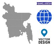 Carte de Pixelated Bangladesh illustration libre de droits