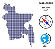 Carte de Pixelated Bangladesh illustration stock