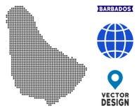 Carte de Pixelated Barbade illustration stock