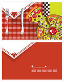 Carte de pizza Photographie stock libre de droits
