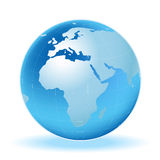 Carte de planète Photographie stock
