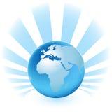 Carte de planète Photos libres de droits