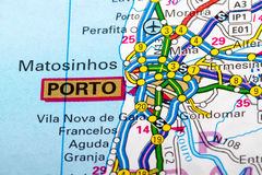 Carte de Porto Photos stock