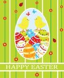 Carte de Pâques Image libre de droits