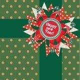 Carte de présent d'an neuf heureux. Images stock