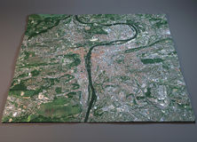 Carte de Prague, vue satellite, République Tchèque Images stock