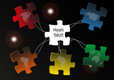 Carte de puzzle Photos stock