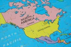 Carte de puzzle (Amérique) Image stock