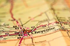 Carte de région de Cheyenne Wyoming Image libre de droits