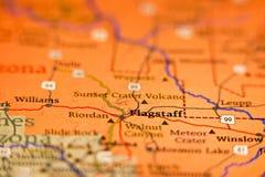 Carte de région de l'Arizona de hampe de drapeaux Images libres de droits