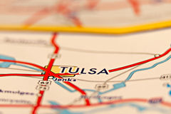 Carte de région de Tulsa l'Oklahoma Photo libre de droits