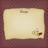 Carte de recette Photos libres de droits