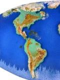 Carte de regard réelle de la terre Photos stock