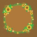 Carte de ressort de tournesols Photos libres de droits