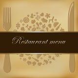Carte de restaurant Photographie stock libre de droits