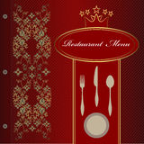 Carte de restaurant Illustration Libre de Droits