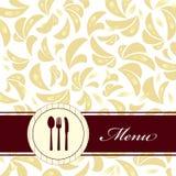 Carte de restaurant Images libres de droits