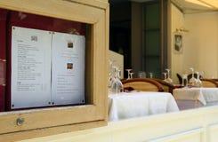 Carte de restaurant Photo stock