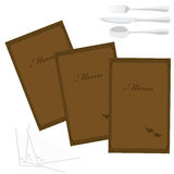 Carte de restaurant Photo stock