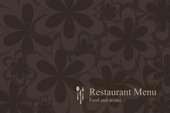 Carte de restaurant de conception de l'avant-projet Images stock