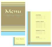 Carte de restaurant et carte de visite professionnelle de visite Image libre de droits